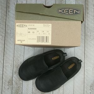 KEEN Black Jasper Slip-On Youth Sneakers Size US13